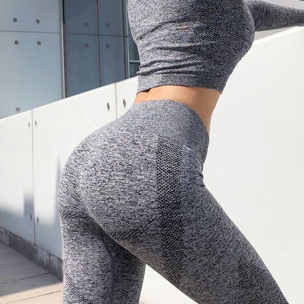 Sexy Damen Fitness Frauen Outfits Yoga Europa und den Vereinigten Staaten Sport Fitness Hosen Damen Stretch nahtlose Fitness-Kleidung