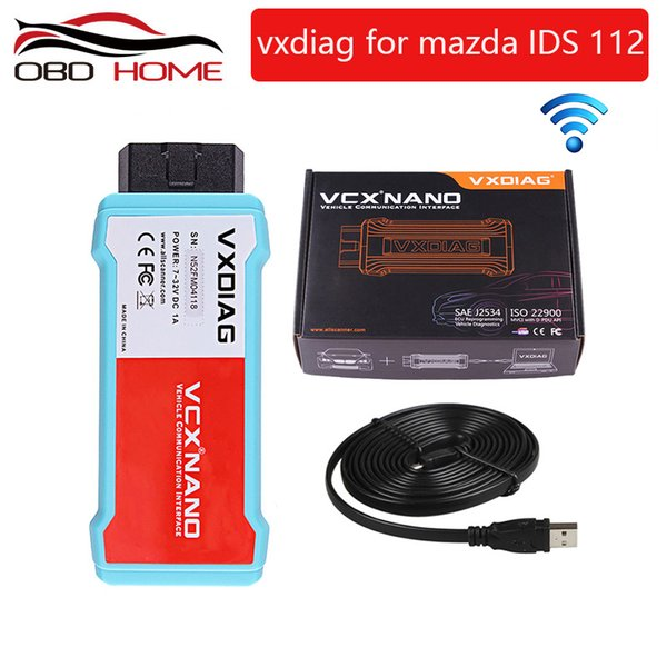 Super OB2 Diagnostic tool Original VXDIAG VCX NANO for Mazda 2 in 1 wifi IDS V112 Auto Diagnostic Tool Scanner Free shipping