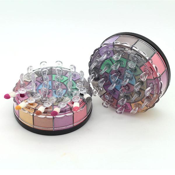 24 Farben-Augenschminke-Palette mit Pinsel Ursprüngliche Marke Wasserdicht Leicht zu tragen Mattmetallische strahlende natürliche Lidschatten Kostenloser Versand