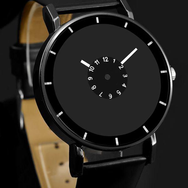 ristwatch women Новый дизайн Кожаный ремешок смотреть элегантные кварцевые наручные часы мужчины женщины часы черный белый короткие унисекс часы аналоговый мужской R ...