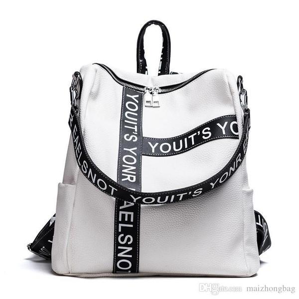 Korean Style Fashion Reiserucksack Große Kapazität Waterphoof Schwarz Rucksack Taschen Pop Vogue Schultasche Mode