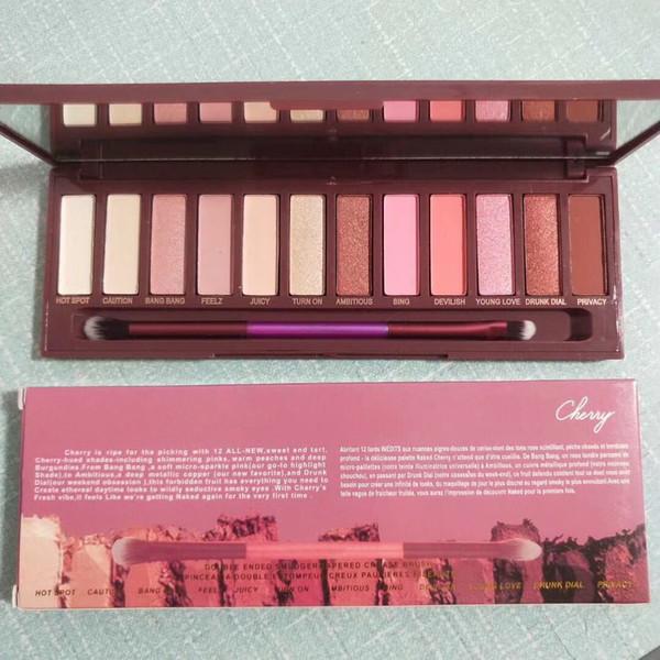 prix le plus bas! Maquillage chaud 2018 Palette 12 couleurs Palette de fard à paupières Palette de fard à joues Cerise NU! ePacket livraison gratuite!