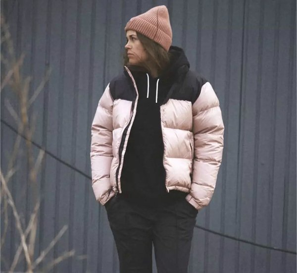 High Quality Winter Men's and Women Ski Cotton Down Jackets Coats Fashion Casual Brand Hoodies Outdoor Windproof Ladies Coats Black Pink