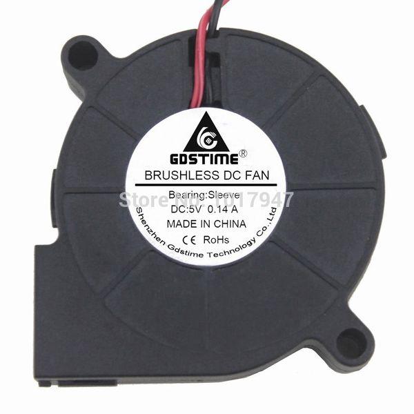 fan 5v 50 5pcs lot Brushless DC Turbine Cooling Cooler Blower Fan Exhaust Fans 50 50x15mm 5015S 5V