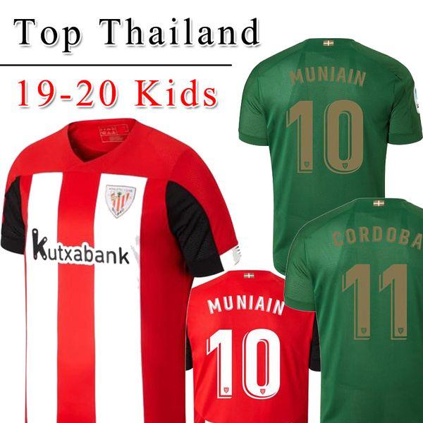 19 20 Athletic Bilbao Club Home soccer jerseys 2019 2020 Aduriz Williams Sola Muniain soccer shirts man kids kit football uniform