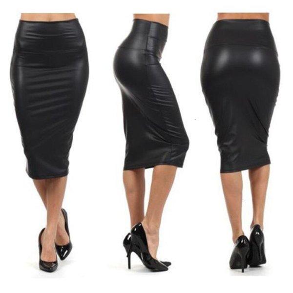 skirts for women leather skirt winter autumn women skirt midi skirt ol slim faux leather pencil elegant ladies skirts 2 colors