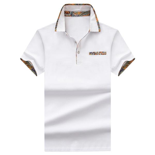 Camisa de polo clásica para hombres Camisa de manga corta de manga corta para hombre Camisa de polo delgada sólida de verano Tallas grandes M-4XL