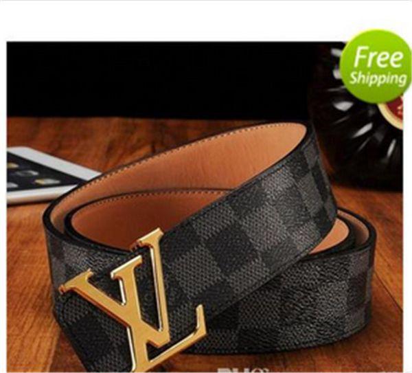 2019 fashion brand designer luxury business belt gold and silver letter buckle denim belt
