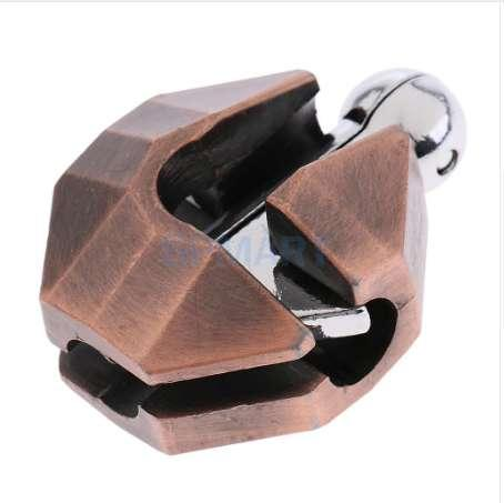 Shell Lock Puzzle Classic Metal Brain Teaser IQ Test Toy for Adults Children