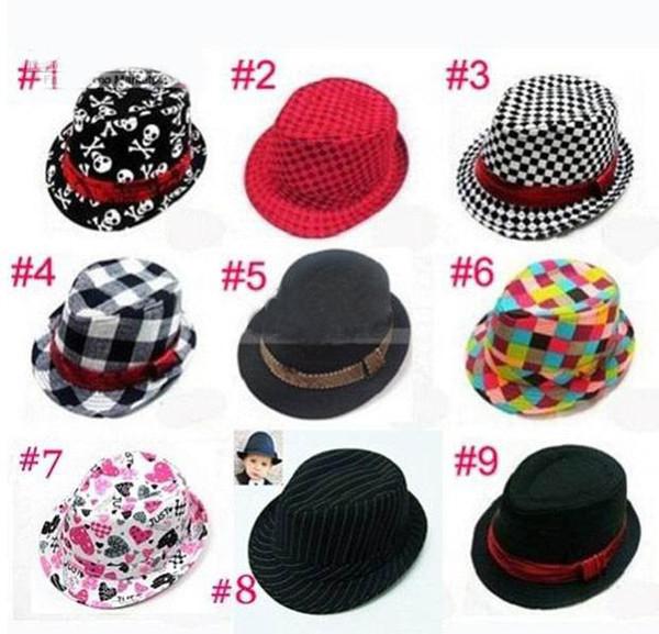 Hot New Baby crianças Caps para crianças acessórios chapéu meninos grils chapéus de festa chapéu fedora, 10 pçs / lote, dandys