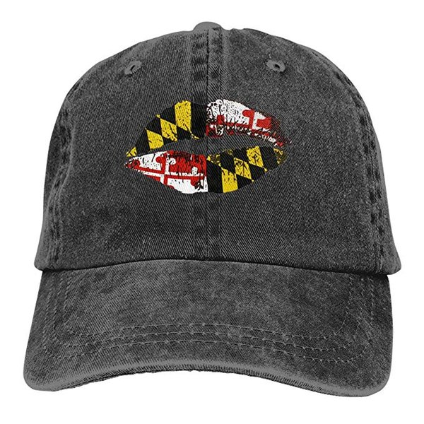 2019 New Cheap Baseball Caps Print Hat High quality Maryland Lips Mens Cotton Adjustable Washed Twill Baseball Cap Hat