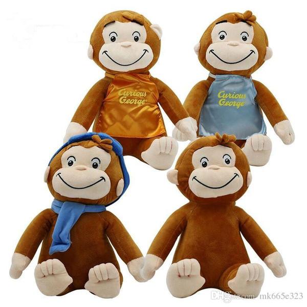 Curious George Monkey Plush Toys kawaii Soft Cuddly Stuffed Animals Funny Toy Doll for Wedding Birthday Party Christmas Decoration
