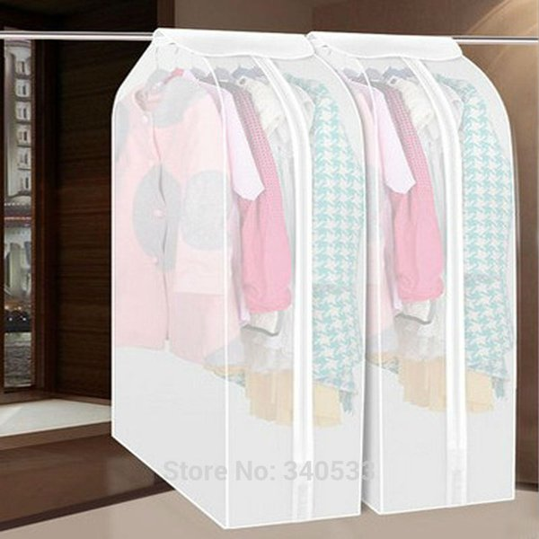 best selling Dustproof Cloth Cover Bags Hanging Organizer Storage Waterproof Suit Coat Dust Cover Protector Wardrobe Storage Bag for Clothes