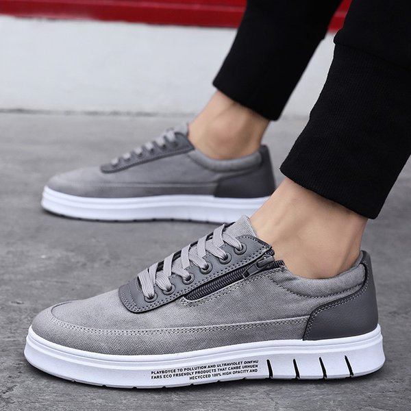 Nice New Men Shoes Summer Korean Canvas Shoes Low Heel Casual Sneakers Platform Shoes Hiking Shoes From Dusala, $64.42| DHgate.Com