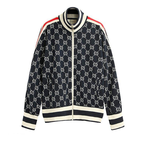 Italy Designers Jacquard Cotton Jacket Jersey Printed Mens Hoodies ZIP-UP Jacket Coat Men Women Sweatshirts Man Clothing CHK0912