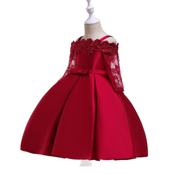 2019 Spring Teenage Long Sleeve Christmas Dress Party Prom Wedding Dress Kids Dresses For Girls Costume Clothes Princess