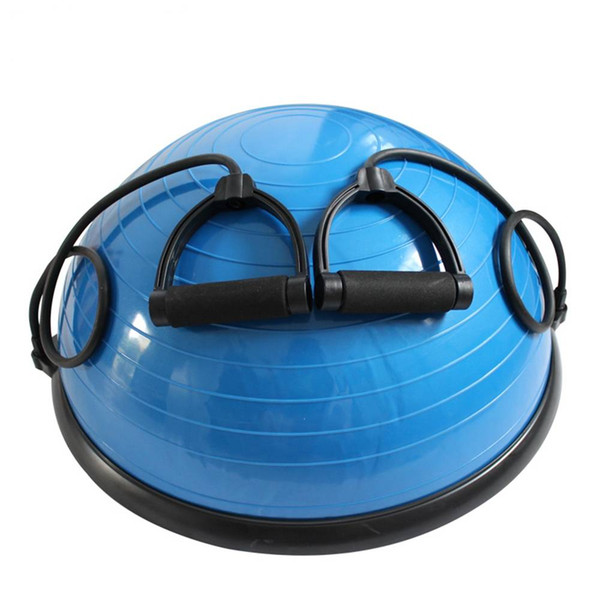 PVC and ABS Yoga Ball Balance Ball Hemisphere Fitness Massage Effect for Gym Office Home Blue