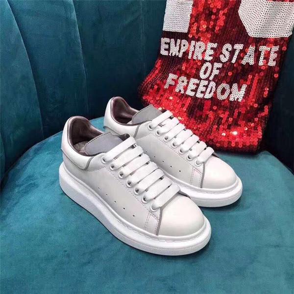 New2019 Ankünfte Damenmode 1ss Luxus Plattform Schuhe Dame Zu Fuß Beiläufige Turnschuhe Leuchtende Fluoreszierende Weiße Schuhe Leder