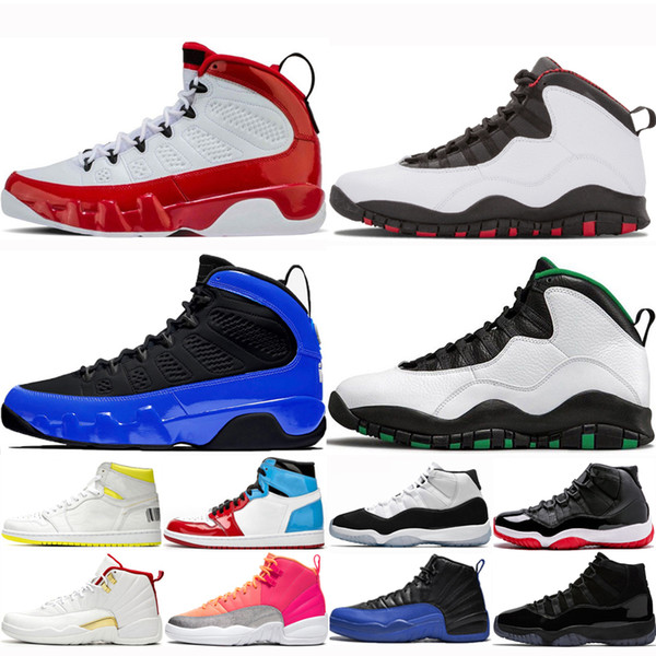 airretrosJordan9 Chaussures de basket-ball pour hommes Gym Red 12s FIBA Cool Gray Seattle Court Hyper Royal Purple Hommes Chaussures
