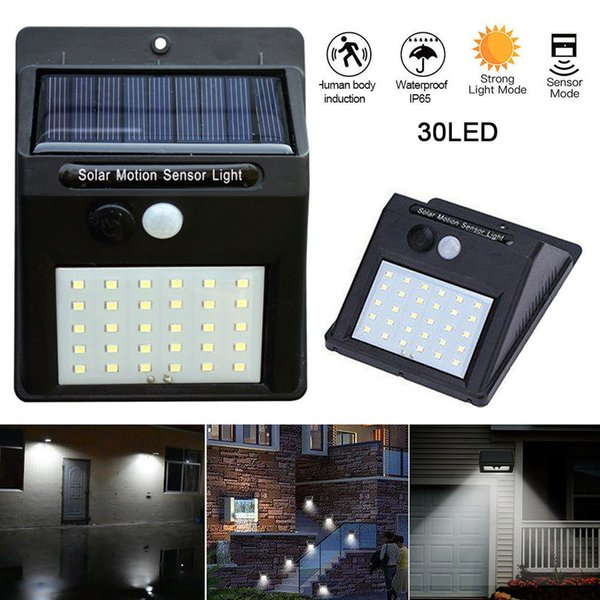 20/30 LEDs solarbetriebene PIR-Bewegungssensor-Wand-Sicherheitslicht-Garten-im Freien wasserdichte Beleuchtungslampe