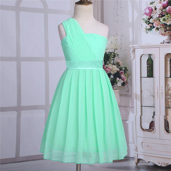 Iefiel Mint Green Girls Flower Formal Party Ball Gown Prom Princess Bridesmaid Wedding Children Tutu Tulle Dress Size 4-14 Years Y19061801