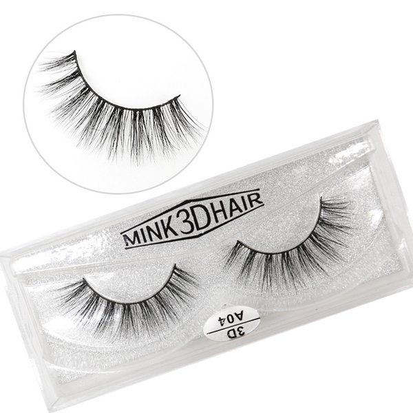 A04 3D A series 100% Real mink Eye Lashes Thick false Eyelashes a pair of false eyelashes with Crystal box