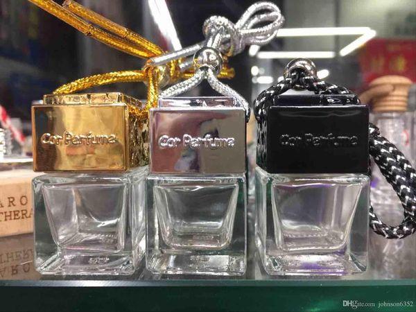 best selling Fashion perfume Car-styling Essential Oil Perfume empty bottles Original Shape square Car Air Freshener Hang Rope Pendant Diffuser Bottles