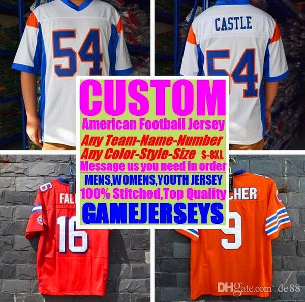 All Stitched Custom american football jerseys Miami Pittsburgh college authentic cheap baseball basketball mens womens youth USA 4xl france
