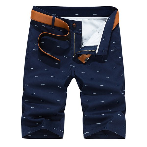 Woodvoice Brand Men Summer Fashion Solid Color Casual Male Shorts Bermuda Masculina Knee Length Plus Size 28-40 Straight C19042101