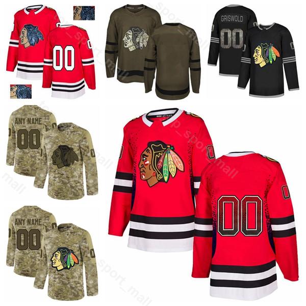 Hombre Joven Mujer 28 Henri Jokiharju Jersey Chicago Blackhawks Hockey sobre hielo 8 Nick Schmaltz 16 Marcus Kruger 5 Connor Murphy Gradiente de la moda
