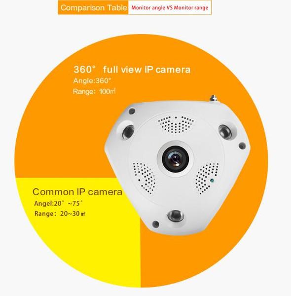 IP VR Kamera WiFi Netzwerk Fisheye Kamera 360 Panorama Wi-Fi Kameras 960P Überwachung CCTV Cam Unterstützung VR BOX 2CU0513