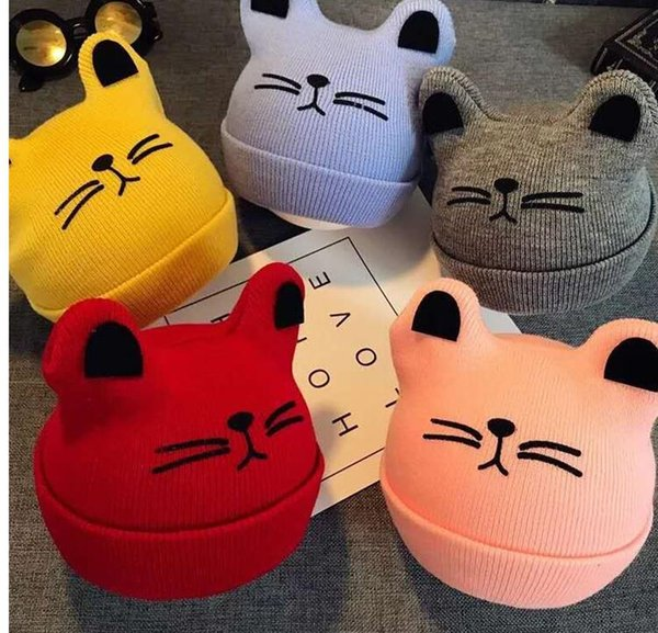 New Baby Hats for Girls Autumn Winter Baby Cap Scarf Love Cats Cat Baby Hats for Boys Child Hat Caps Kids Beanie Accessories SPECIAL CYBER