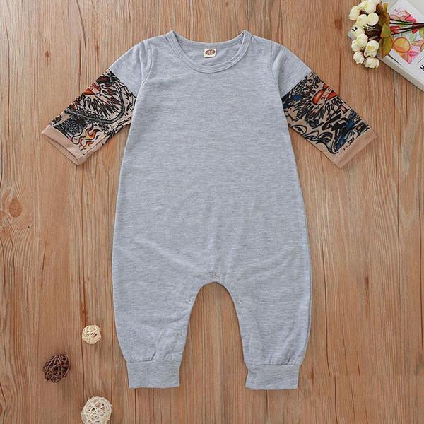 UGFGF-S3 Alien Peace Long Sleeve Newborn Baby Romper Jumpsuit Onsies for 6-24 Months Bodysuit