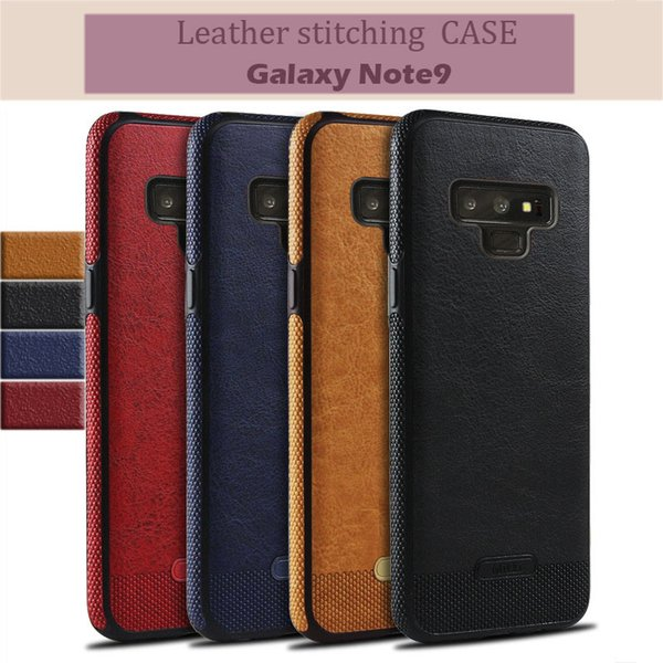 Leather stitching Case For Samsung S10 S9 S7 S8 note9 S10 plus Retro PU Leather Phone Cases For iPhone XS Max Cover