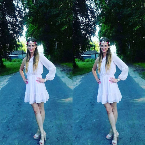 Vestidos cortos de regreso a casa de gasa baratos con vestidos de fiesta de graduación de un hombro Baratos por encargo con alta calidad