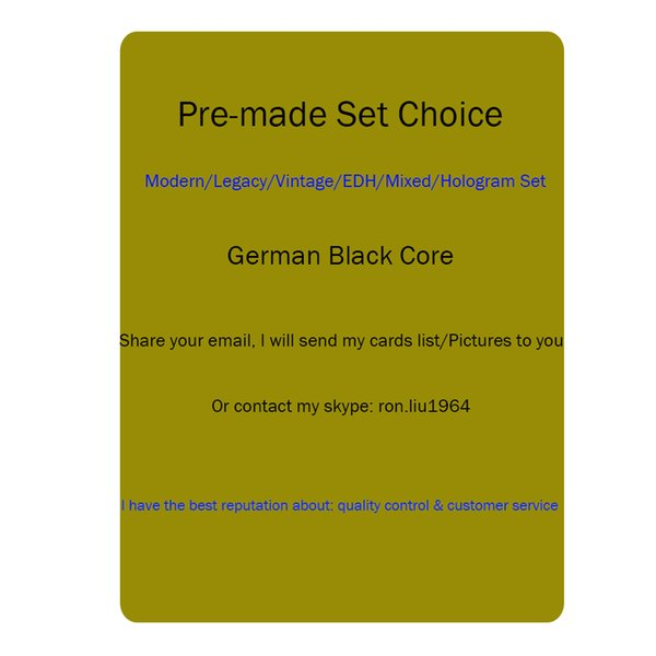 Magic Black core Proxy paper cards, MG lion recommend preset deck,dual lands,Power9,Fetch Lands,Shock Lands
