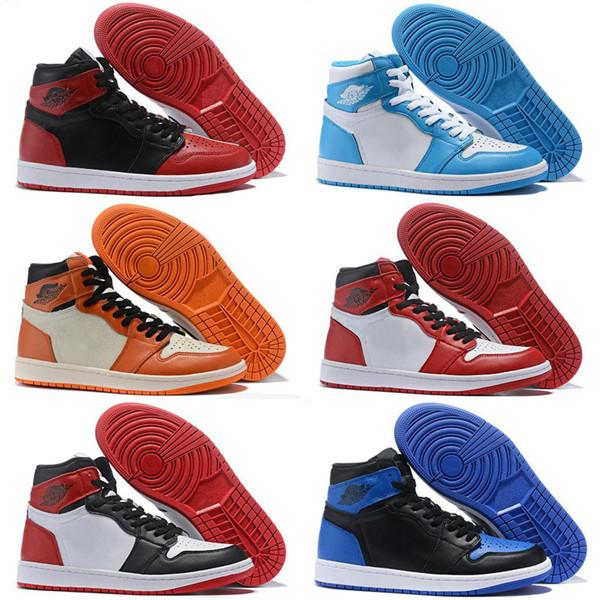 designer shoes 1S OG Mens Shoes Chicago 6 rings Sneakers Bred Toe Trainers WOMEN MID New Love UNC Backboard Sport Shoes 36-47