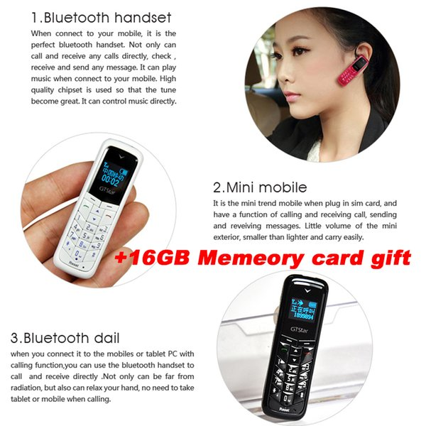 "Brand Mini phone dual sim 16gb credit card pocket 0.66"" GSM Wireless Bluetooth Dialer Headset-Headphone Celulares Small mp3 sd card for Kids"