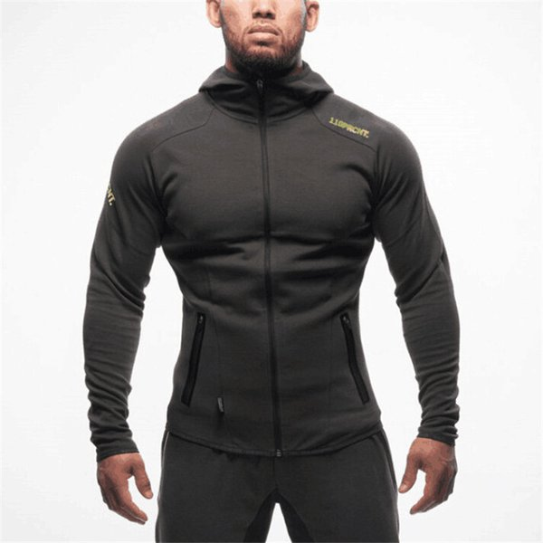 2019 new fashion Muscle Fitness Brothers Camouflage Open Shirt Men Spring and Autumn Training Running Hat Guard gym hoodies coat