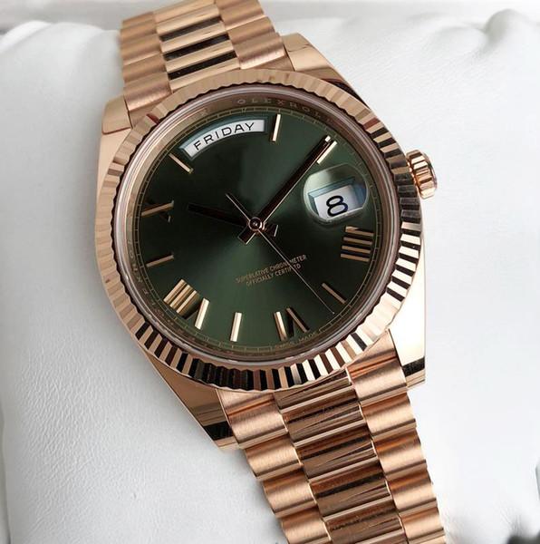 wholesale AAA Luxury brand watch DAY DATE mechanical 40MM mens royal oaks aaa watch Stainless steel bezel Stainless steel strap Wristwatches