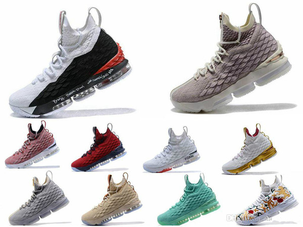 High Quality Newest Ashes Ghost Lebron 15 Basketball Shoes Arrival Sneakers 15s Mens Casual 15s King James sports shoes LBJ EUR 40-46