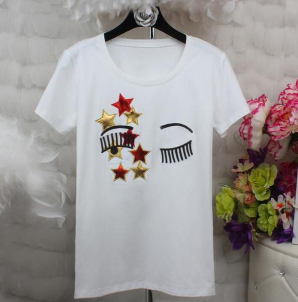 Harajuku Cat T Shirt Frauen Blusa Sommer Mode Wimpern Rote Lippen Drucken Originalität Oansatz Kurzarm T-shirt Tops Shirt