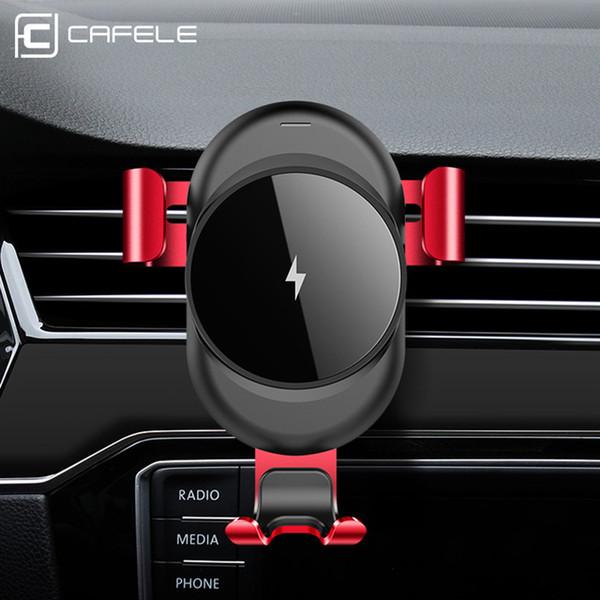 Support de voiture chargeur sans fil pour iPhone X 8 Plus charge rapide sans fil Pad de charge Support de voiture support pour Samsung S9 S8