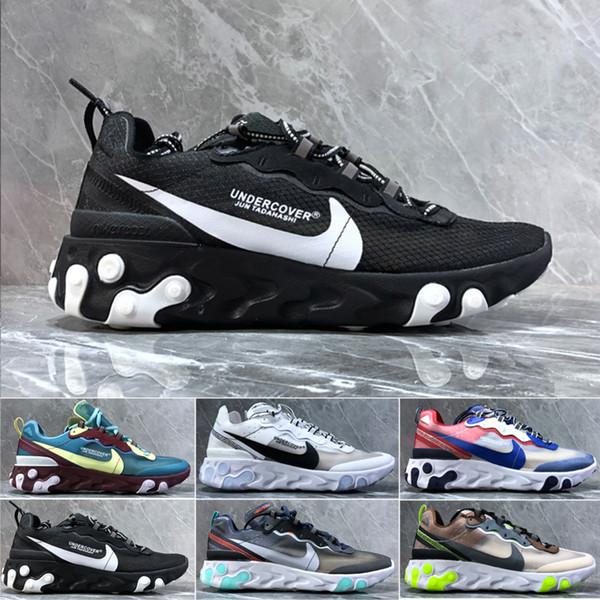 nike Air max Epic React Element 87 2019 React l'élément 87 55 chaussures de course pour homme femme noir blanc royal Tint Desert Sand Concepteurs taille respirant sneakers sport