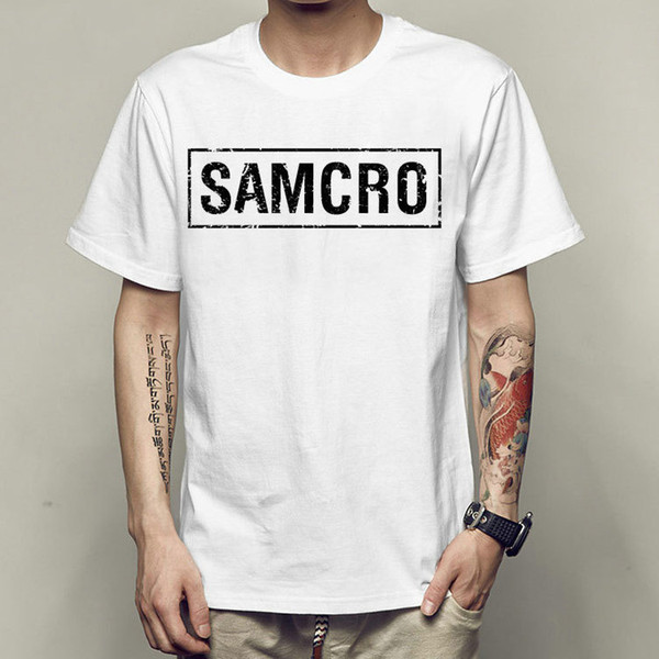 Samcro t shirt Sons of anarchy short sleeve gown tops New wave white fastness tees Colorfast print clothing Pure color modal tshirt