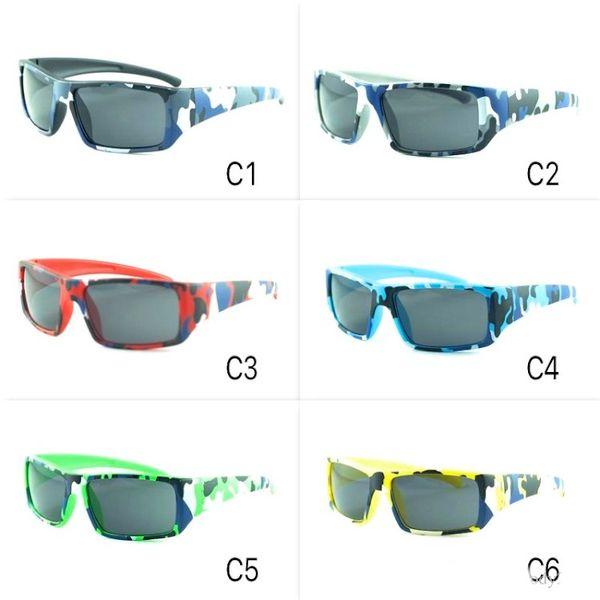 Neue Kinder Sonnenbrillen Outdoor Sports Tarnung Sonnenbrillen Coole Kinder Sport Brillen 6 Farben Reisenden Brillen Großhandel