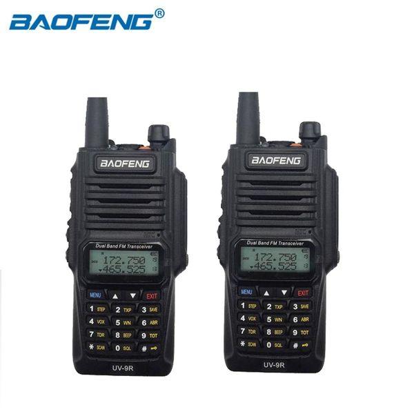 Original Baofeng UV-9R IP67 Radio bidirectionnelle UHF VHF Double Bande Étanche Talkie Walkie 8W 128CH UV 9R Jambon Chasse FM Radio 2 PCS