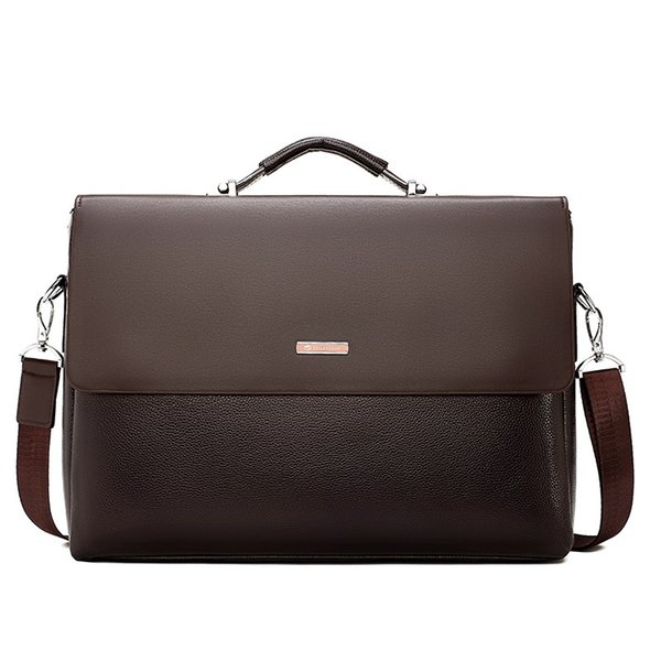 e2f6c5ab2048 Famous Brand Business Men Briefcase Leather Laptop Handbag Casual Man Bag  For Lawyer Shoulder Bag Male Office Tote Messenger