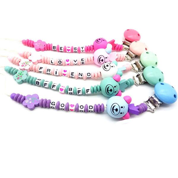 Baby Pacifier Clip Chain New Baby Boys Girls Pacifier Clips Newborn Dummy Chain Clip Holder Nipple Feeding