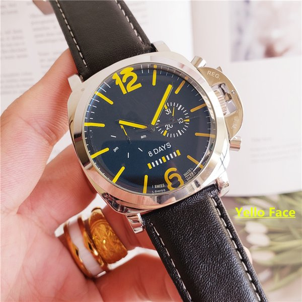 jaragar mens sport watches men mechanical automatic stainless 6 pin dive black leather watch strap